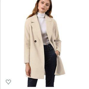 Allegra K Winter white / cream coat small